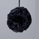 BLACK Silk pomander flower ball